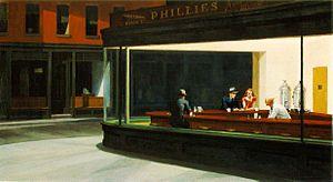 Nighthawks - aka the diner painting